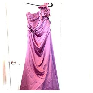 David's Bridal Long bridesmaid purple dress